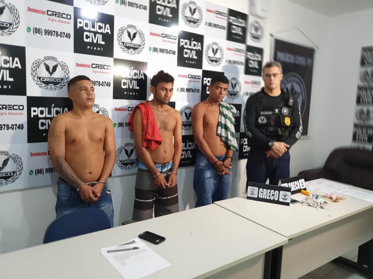 Greco prende homens suspeitos tráfico e roubo em Teresina