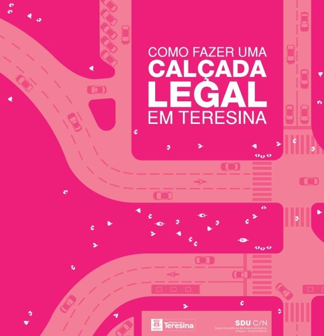 Prefeitura de Teresina lançará cartilha de orientação sobre calçadas