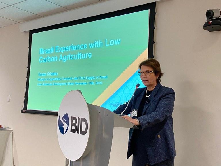 Ministra da Agricultura pede apoio do BID para Plano AgroNordeste