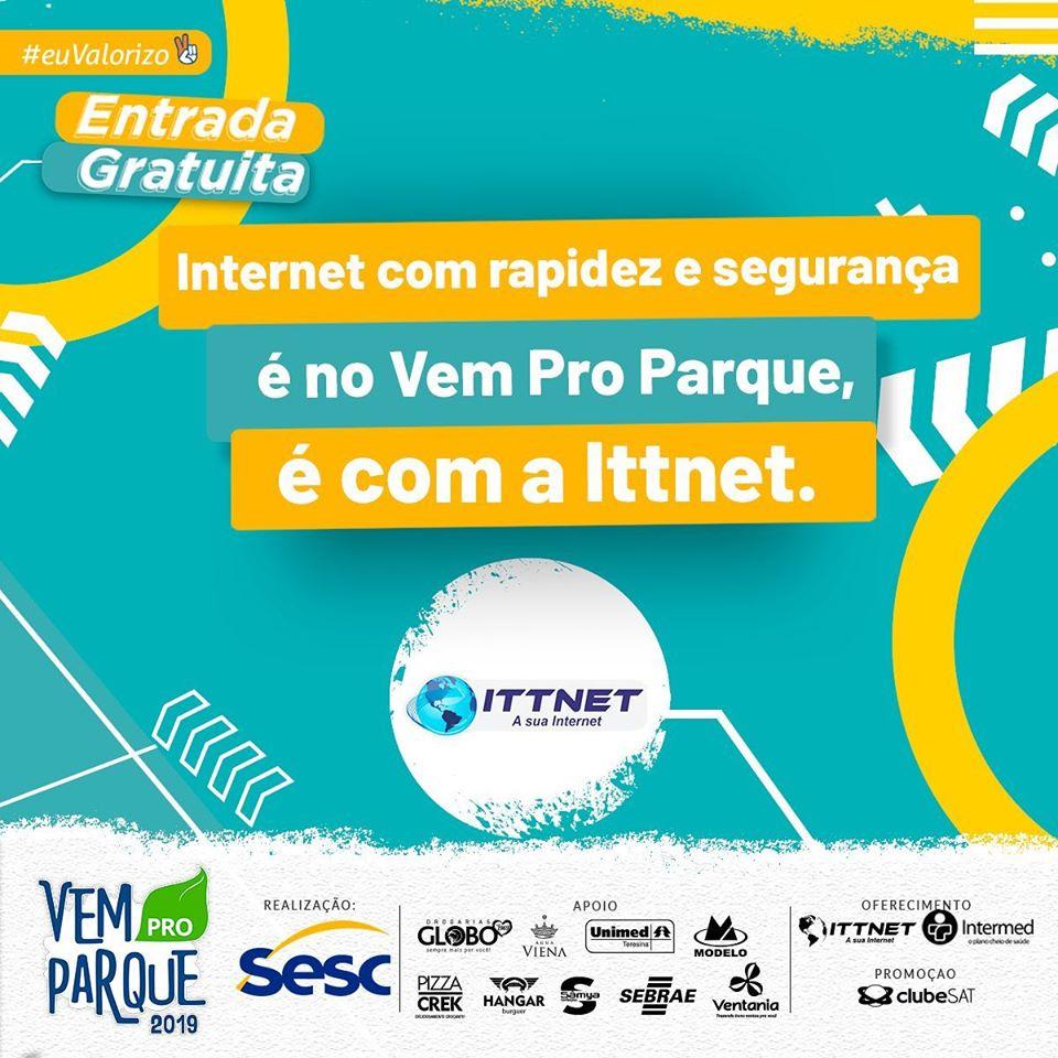 Rede da ITTNET conectará pessoas nos dois dias do Vem pro Parque
