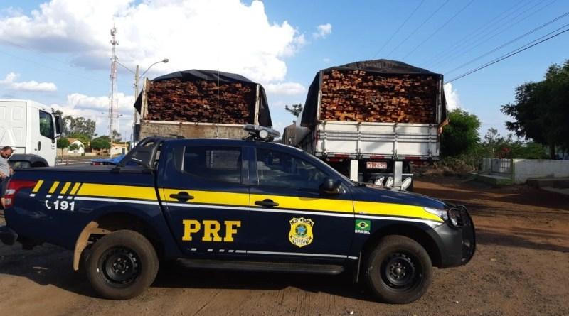 PRF apreende carga de madeira na BR 316 no município de Picos