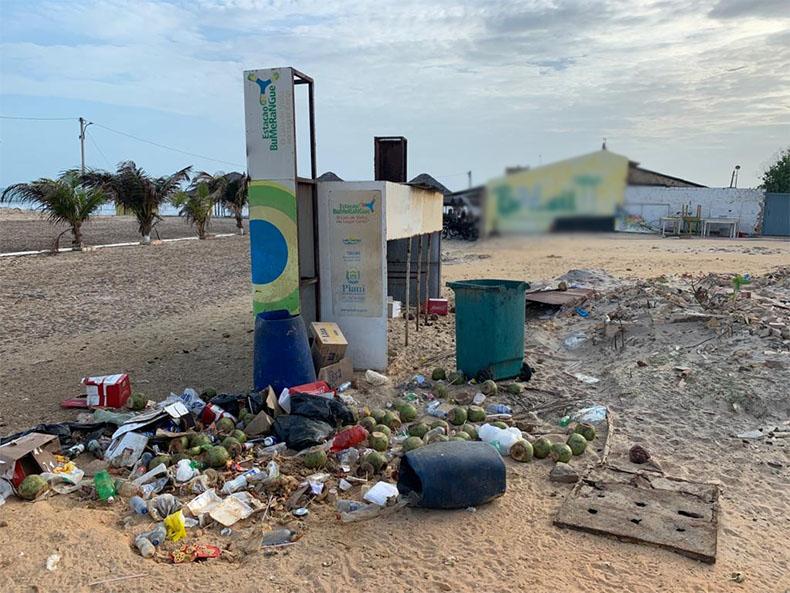 OAB Piauí denuncia sujeira nas praias de Luís Correia