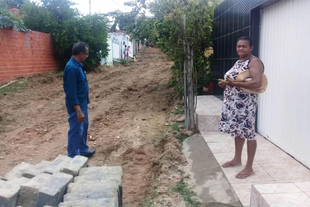 SDU-Sul inicia pavimentação da Rua Santa Filomena na Vila Afonso Gil nesta terça (07)