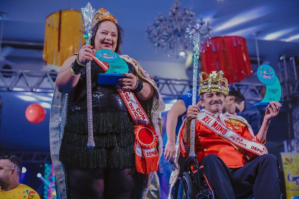 Inscrições abertas para Rei e Rainha com deficiência do Carnaval 2020