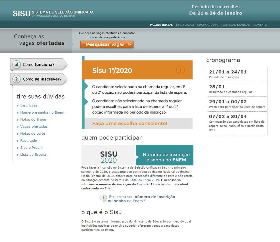 Sisu 2020: saiba como usar a nota do ENEM para ingressar no ensino superior público