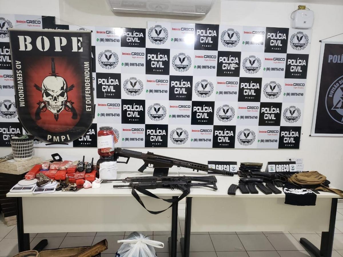 Em operação na zona rural de Teresina, polícia apreende fuzil norte-americano
