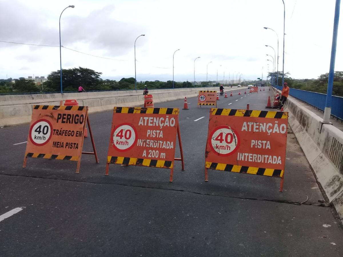Trânsito na Ponte Wall Ferraz terá novamente que ser desviado nesta quinta (13)