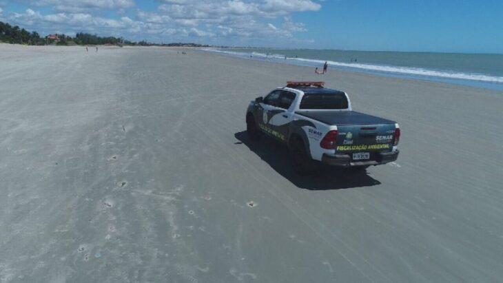 Veículos na Praia: fiscalização será intensificada no período de Carnaval