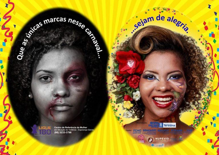Campanha 'Marcas da Alegria' conscientiza sobre violência de gênero no Carnaval de Teresina
