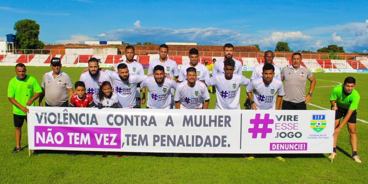 Federação e clubes de futebol piauienses chamam atenção ao combate a violência contra as mulheres