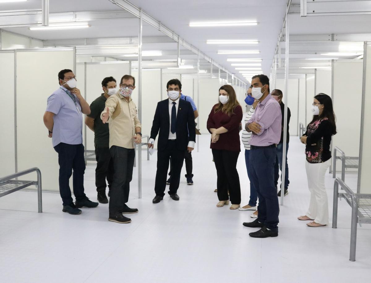 MP-PI realiza inspeção na estrutura do Hospital de Campanha do Verdão