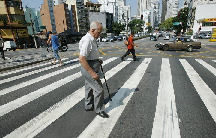Pedestres idosos são as maiores vítimas no trânsito