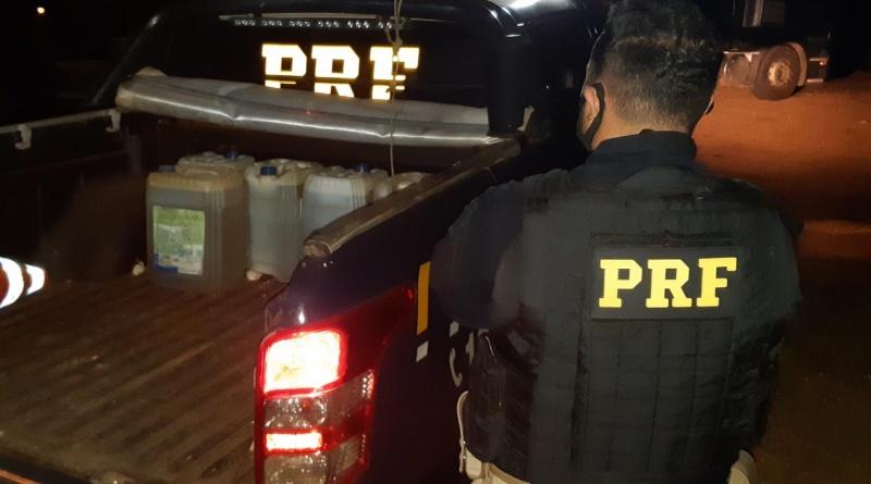 Dois homens foram presos por furto de combustível na BR 020