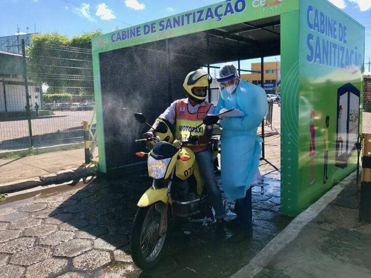 Barreira sanitária é instalada na Nova Ceasa