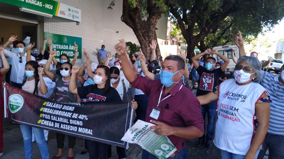 Servidores da saúde entram greve por tempo indeterminado a partir desta quinta-feira