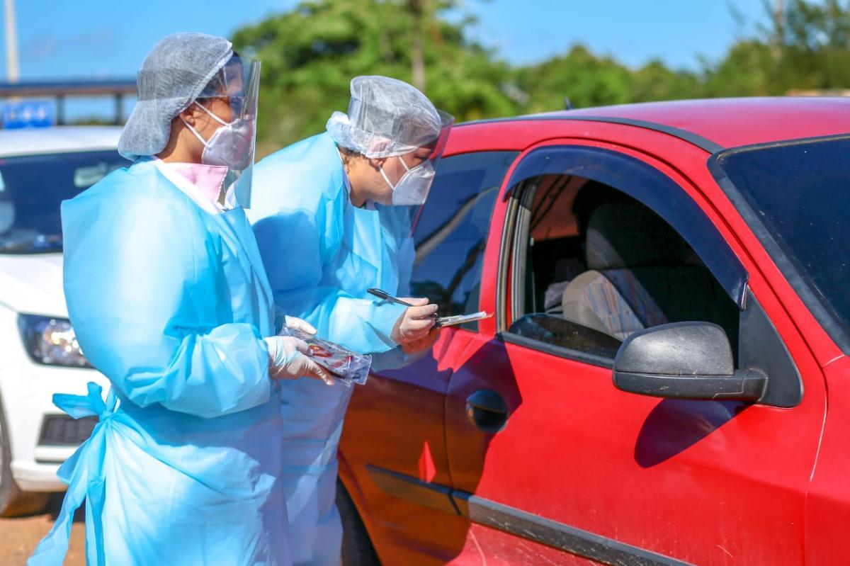Barreira sanitária em Parnaíba orienta motoristas no combate à Covid-19