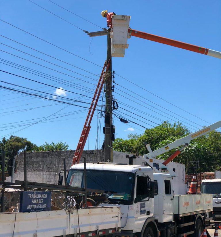 Plano Teresina intensifica melhorias na rede elétrica de Teresina