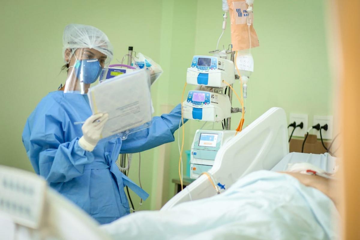 HGV registra queda no número de pacientes com Covid-19
