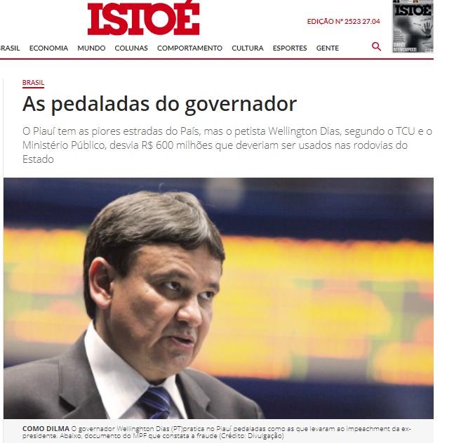 Nacional: IstoÉ mostra ação popular que tenta reaver R$ 300 milhões desviados pelo Governo do PI