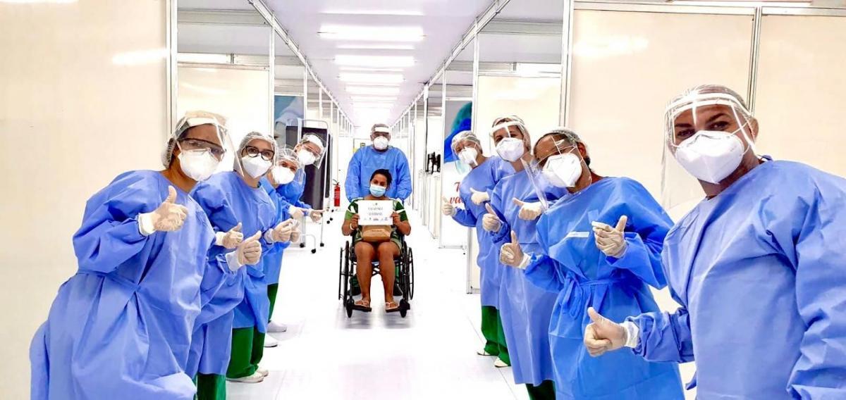 Hospital de Campanha Estadual realiza retestagem de coronavírus em servidores