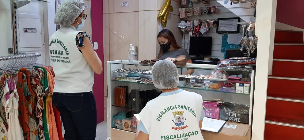 Vigilância Sanitária faz vistoria em shoppings de Teresina