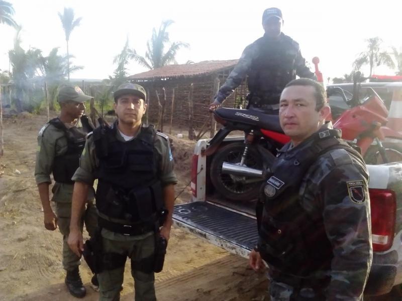 Operação da PM apreende motos roubadas na zona Leste de Teresina