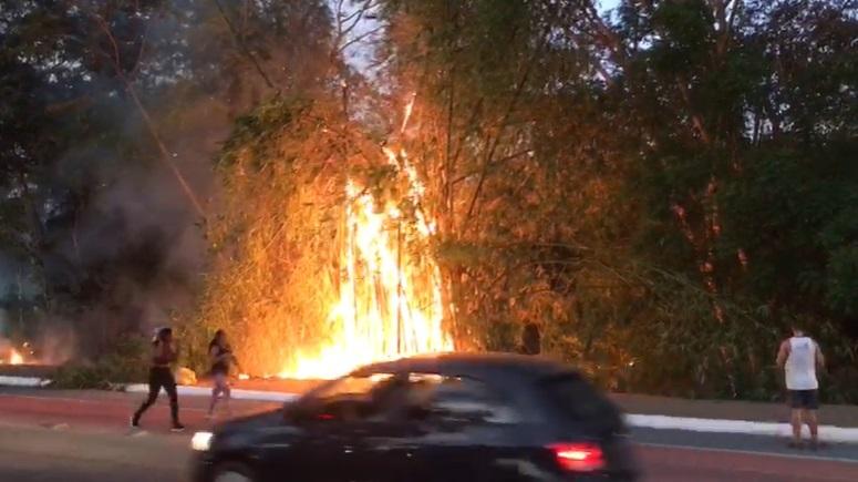 Bombeiros controlam princípio de incêndio na Avenida Marechal Castelo Branco