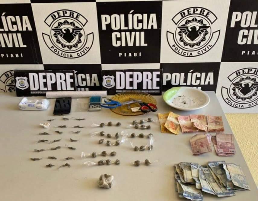 Dupla é presa suspeita de tráfico de drogas na zona Leste de Teresina