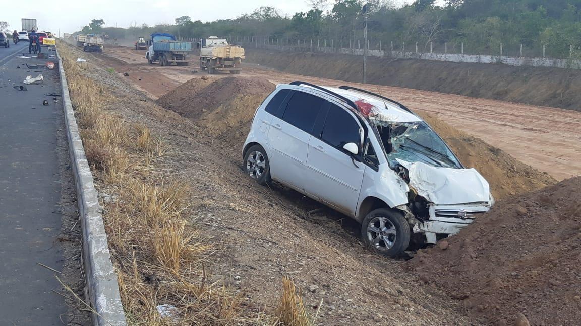 Funcionário público morre em acidente na BR-316 na zona Sul de Teresina