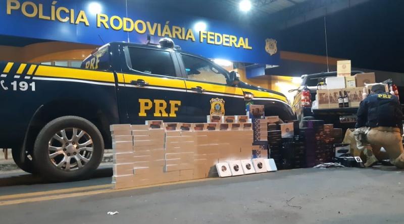 Eletrônicos e bebidas contrabandeadas no valor de R$ 370 mil são apreendidas no Piauí