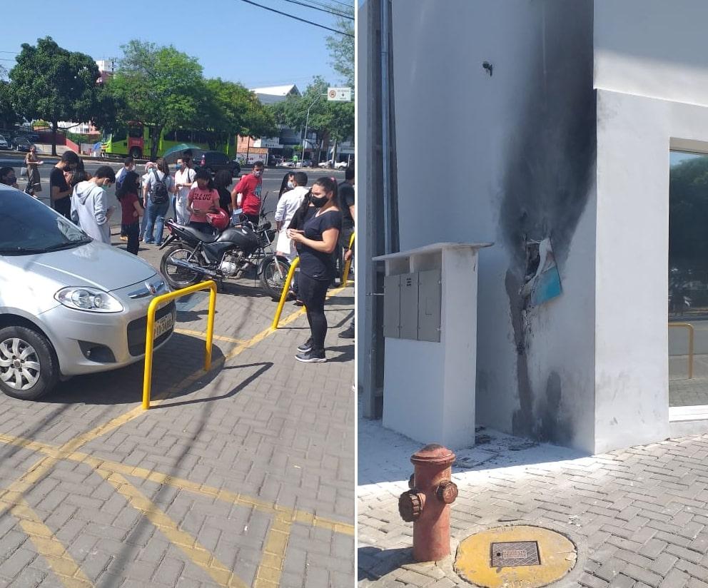 Princípio de incêndio assusta clientes em clínica no bairro São Cristóvão