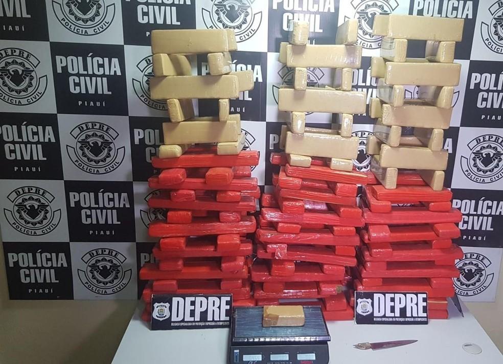Polícia apreende mais de 100 quilos de maconha na Zona Norte de Teresina
