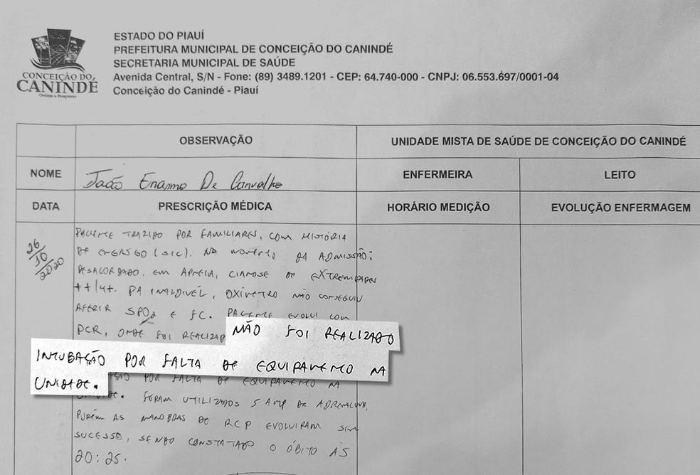 Homem morre engasgado com pedaço de carne em UBS no Piauí