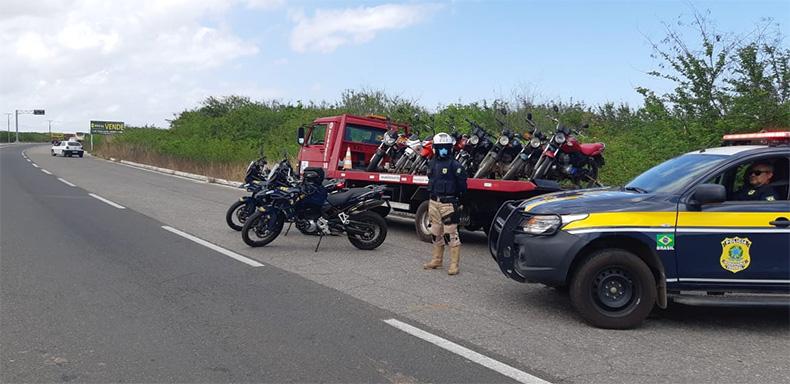 PRF prende seis pessoas e apreende quase 40 motos em operação no Piauí