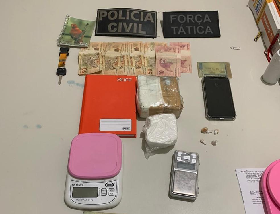 Homem investigado por porte de explosivos é flagrado com cocaína no Piauí